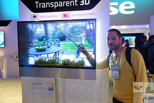 hisense transparente 3d tv