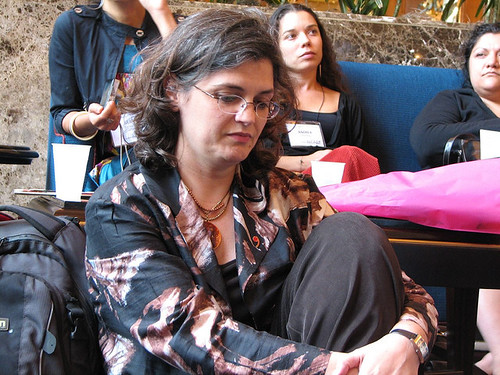 cherylleanza posted a photo:	Cheryl listens to media justict activists at NCMR