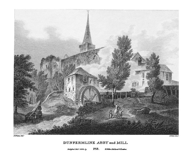etching: Dunfermline Abby and Mill