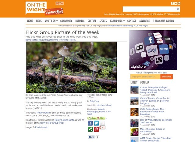 On the Wight Picture of the week 30th Oct 2012