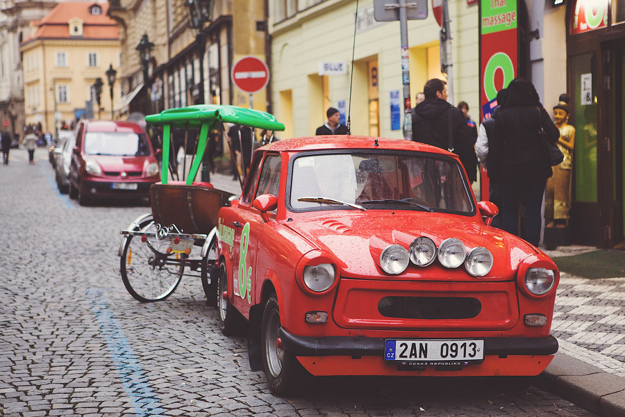 retro car in Prague