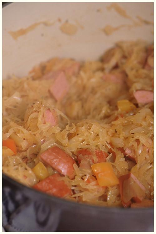 Smoked Sausage & Sauerkraut Casserole