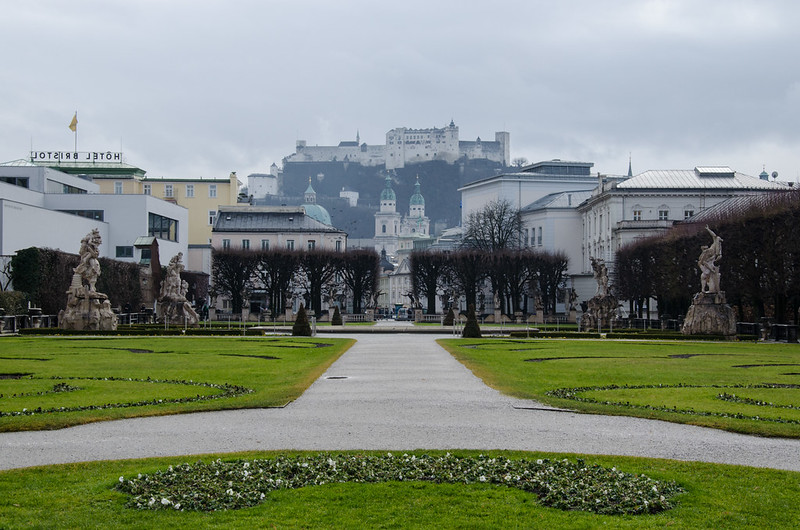 View of Hohensalzburg Castle from Mirabell Palace