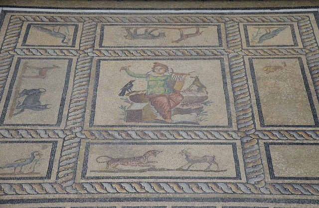 Orpheus mosaic from the dining room of a Roman private house at Miletus, first half of 2nd century AD, Pergamon Museum