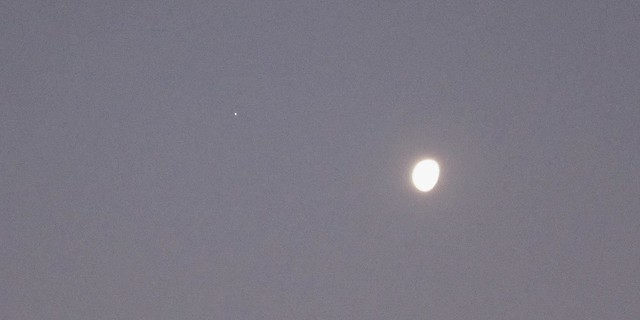 Jupiter and the Moon
