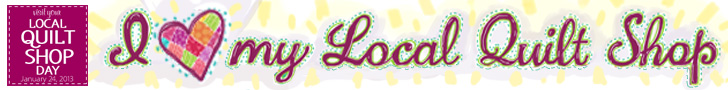 local quilt shop banner