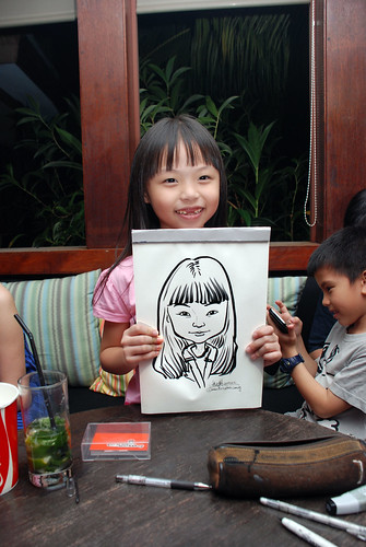caricature live sketching for Mark Lee's daughter birthday party - 33