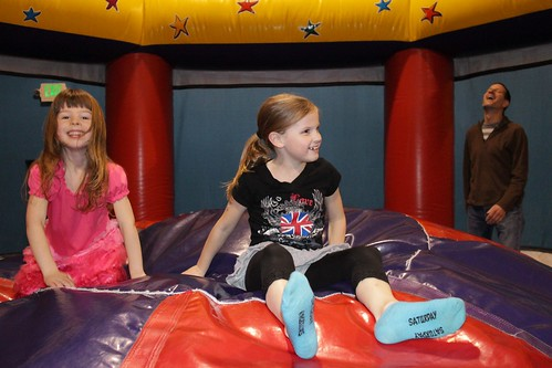 Ellie And Emma In Bouncy House