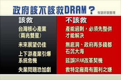 政府該不該救 DRAM ?