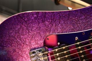2013 NAMM Show - Purple Vigier Guitar