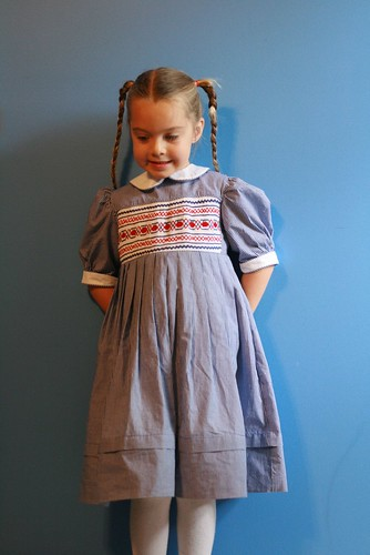 Apple smocked dress