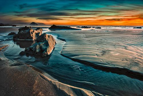 ocean california sunset sky beach water clouds surf morrobay morrostrand