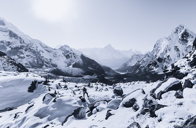 Cho La Pass in Himalayas (5300m)