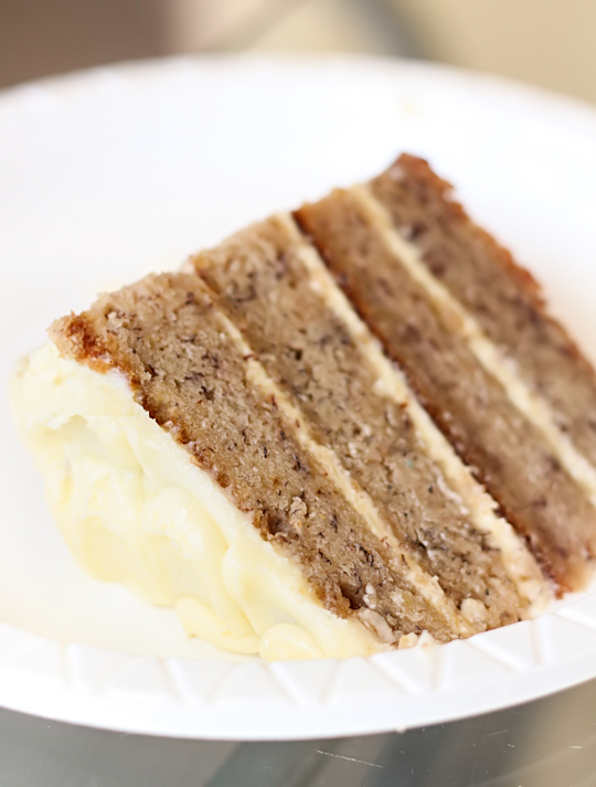 Banana Layer Cake with Passionfruit Cream Cheese Icing