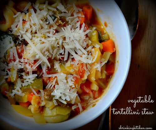 Vegetable Tortellini Stew from shrinkingkitchen.com