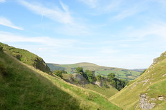 Peveril Castle and Lose Hill from Cave Dale