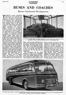 Continental Buses & Coaches, April 1954 Article