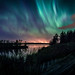 Northern lights on Haapajärvi's reservoir by LuonnonKuvaaja
