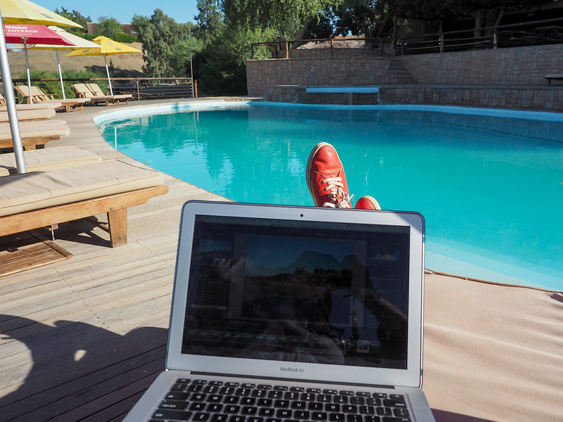 Blogging office in Africa