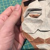 Bearded man mask - working on the details of a piece for the exhibit next month #morigami #face #beard #man #mask #origami
