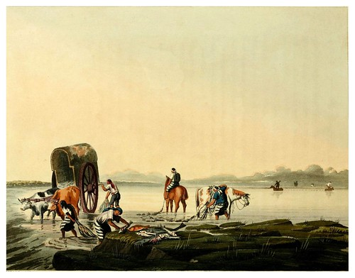 017-Pescadores en Buenos Aires-Picturesque illustrations of Buenos Ayres and Monte Video..-1820- Emeric Essex Vidal