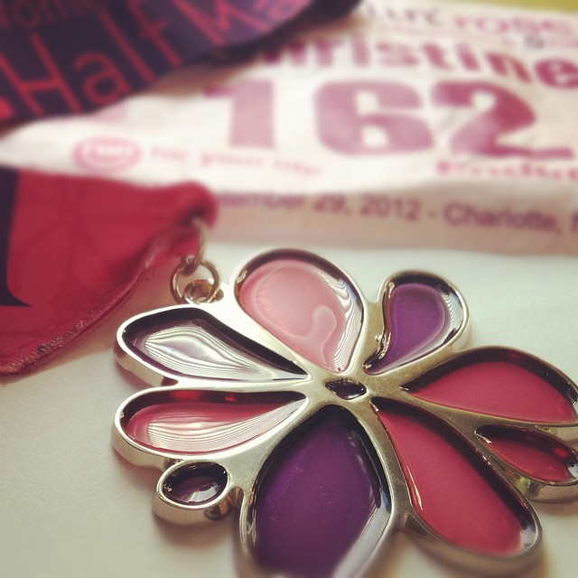 Ramblin' Rose Half Marathon Bib & Medal