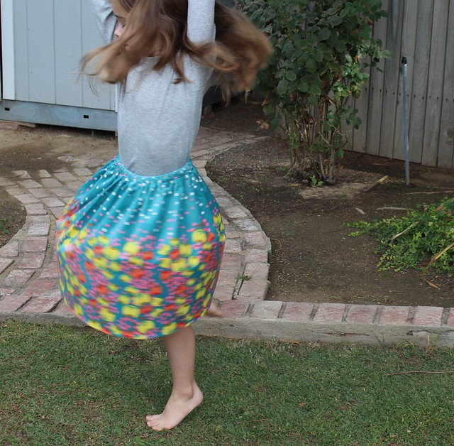 Simple Velveteen Skirt