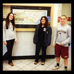 OMG our professor is making us pose in front of the NC map!