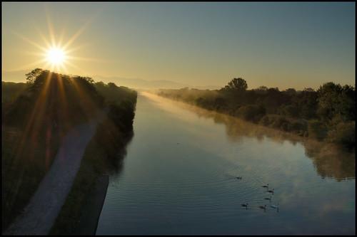 soleil canal matin levant