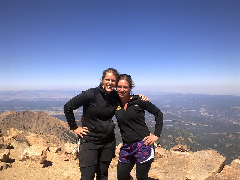 Jen and Laura on Pike's Peak