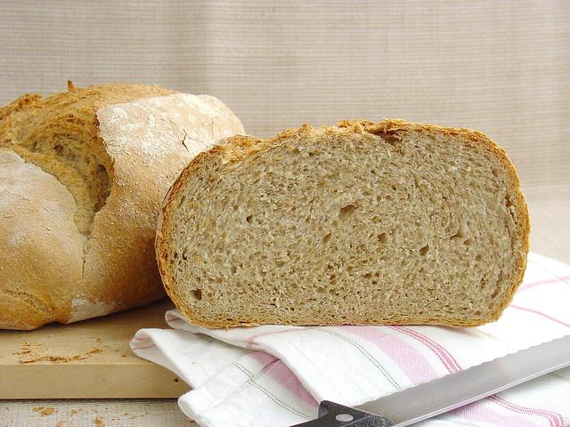 Pan con salvado de trigo