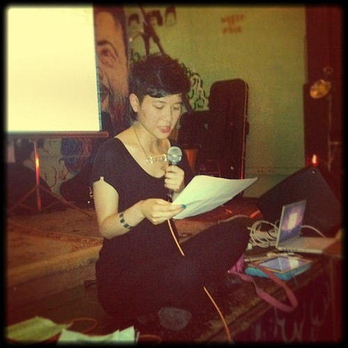 8mm: Mimi reads for POCZP's race riot! tour finale at Death By Audio on Oct 7 2012