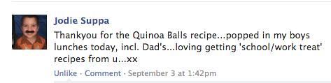 3 quinoa balls