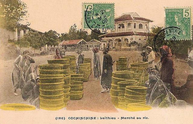 Laithieu - Marché au riz - 1908