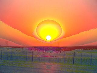 desert highway sunrise