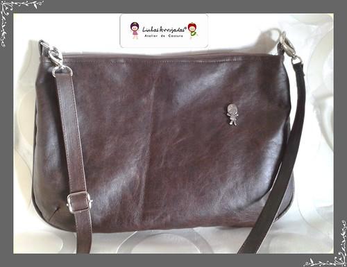 Bolsa á tira colo cinza by Linhas Arrojadas Atelier de Costura ® Trademark