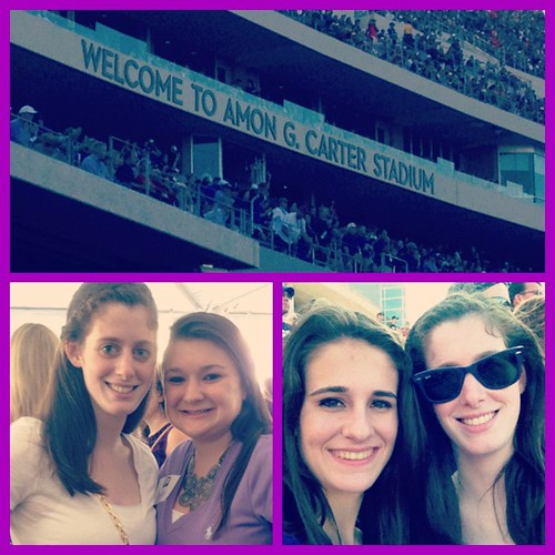 October 20, 2012 - TCU Homecoming! Saw the stadium, my big @kynlynn2, and Hoooolia @juliak67!