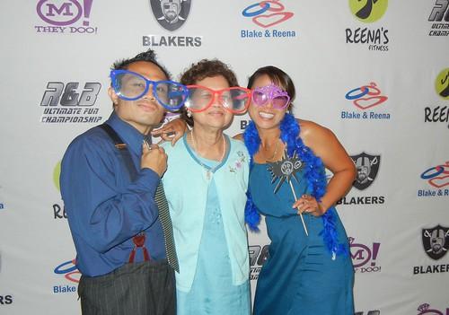 Rik, mom and Cori at photo corner