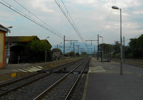 Train Station Platform near Perpignan