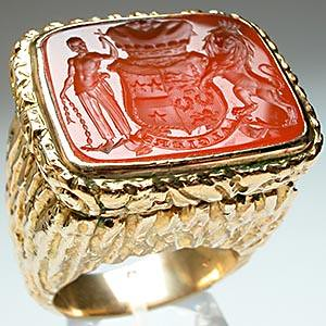 antique-carnelian algiers seal ring