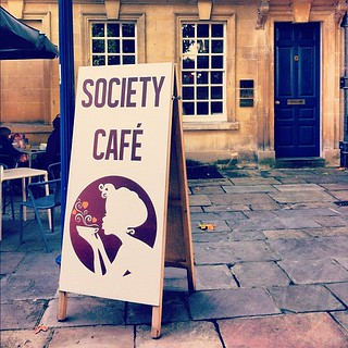 #SocietyCafe in #Bath - the finest gluten free cakes I've ever had :)