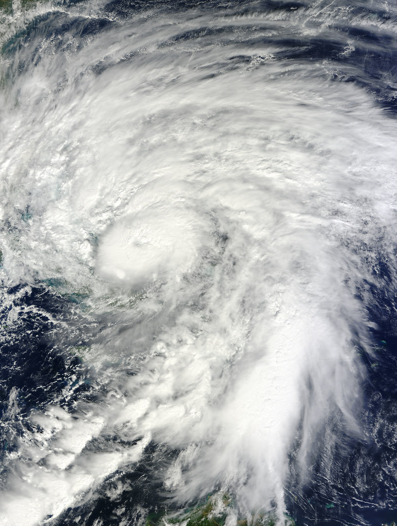 NASA's Terra Satellite Shows a Larger Hurricane Sandy Over Bahamas