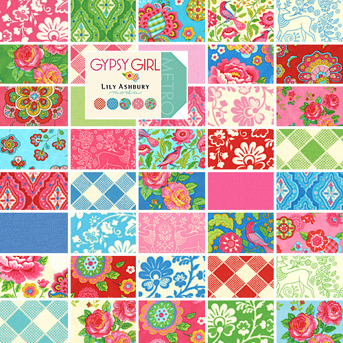 Gypsy Girl Layer Cake for Friday's Fabric Giveaway!