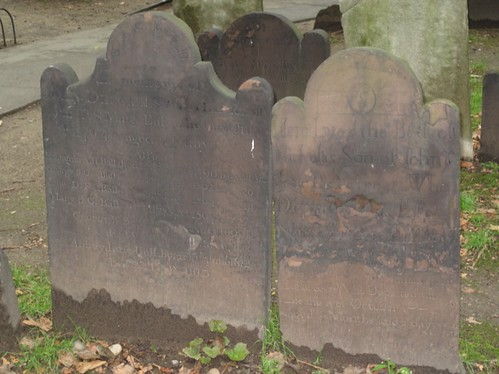 Old tombstones, St Paul's Chapel, New York