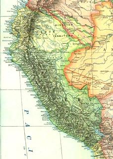 Mapa histórico del Perú (1921)