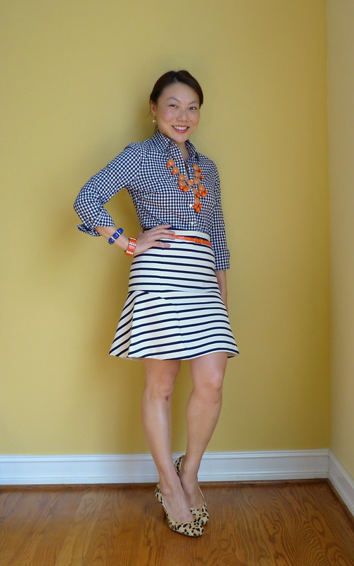 gingham stripes