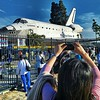 Space Shuttle Endeavor parked on Crenshaw/48th in Los Angeles