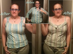 Summer Stripes Tops Before & After