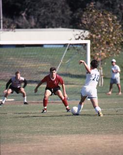 Men's soccer game in 1990