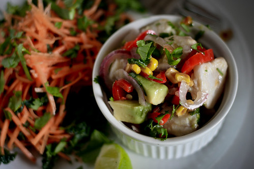 Corn and Avocado Ceviche